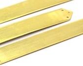 2 Raw Brass Bracelet Blanks 6 Holes (15x110 mm)  brass 065 ( A0212 )