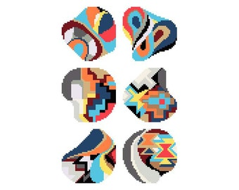 PDF/needlepoint coaster set No.11