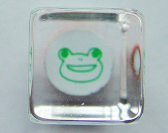 Cute Frog Face Mini Japanese Rubber Stamp