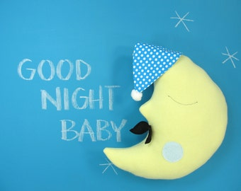 Plush Pillow Toy - Mr Moon