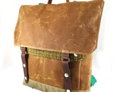 Hunter Plaid Waxed Canvas Backpack