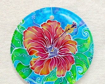 Tropical Hibiscus, Ornament and Suncatcher
