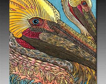 The Pelicans Ceramic TIle Wall Art