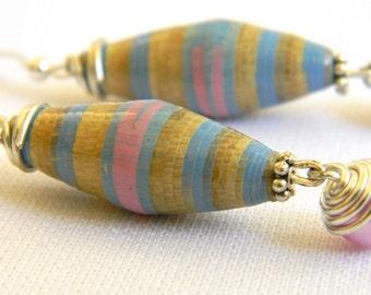 Paper Bead Jewelry - Earrings - #155