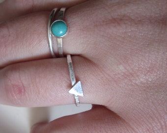 The Ada Ring - Sterling Silver Triangle Ring