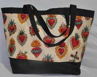 Hearts Shopping or Record Bag