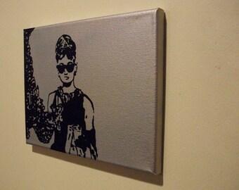 Holly Golightly Pop Art Platinum 8x10