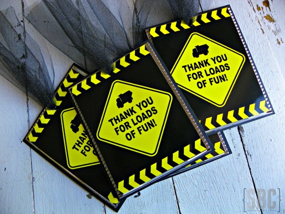 Construction Dump Truck Favor Tags...Set of 12 Favor Tags