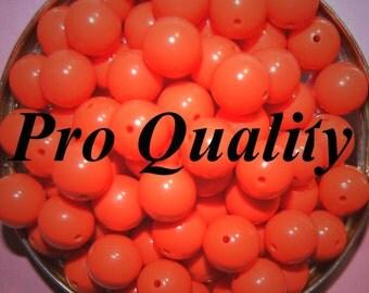 Vintage 18 Bright Orange 12mm Lucite Beads 12MM  FL8