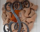 """18""""  Single Letter Wood Monogram - Wedding Guest book, photo prop, nursery decor, front door wreath"""