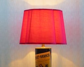 Advertising tin table lamp with rosy shade - Fernet-Branca