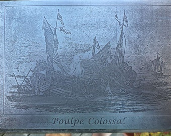 Poulpe Colossal Etched in Aluminum
