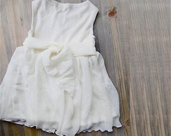 Silk Chiffon flower girl dress  - custom made