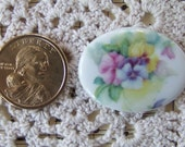 Gorgeous Pastel Pansies Hand Applied Porcelain Fired Decal 40x30 Ready for you to create ECS