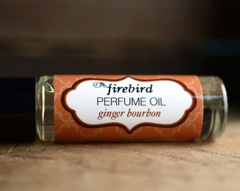 Ginger Bourbon Perfume Oil, Spicy Ginger, Wet Tobacco, Lime, Roll On Perfume