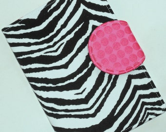 Kindle Paperwhite Kindle Fire Cover Case Nook Cover Nexus 7 Zebra Pink Dot eReader Cover