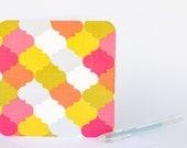Fabric Greeting Card - Moroccan Tiles