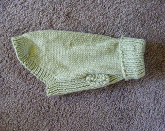 Knitted Light Green Turtle Neck Pullover Dog Sweater