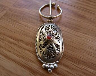 Vintage Silver Moroccan Scarf Pins - price reduced