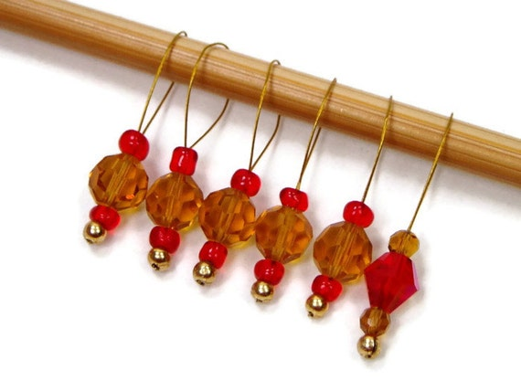 Beaded Stitch Markers Snag Free DIY Knitting Tools by TJBdesigns