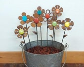 Garden Jumbo Flower - w/glass - 14 to 18 inches tall