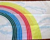 Reclaimed Pillowcase -  Rainbow Print Vintage Standard Free Shipping