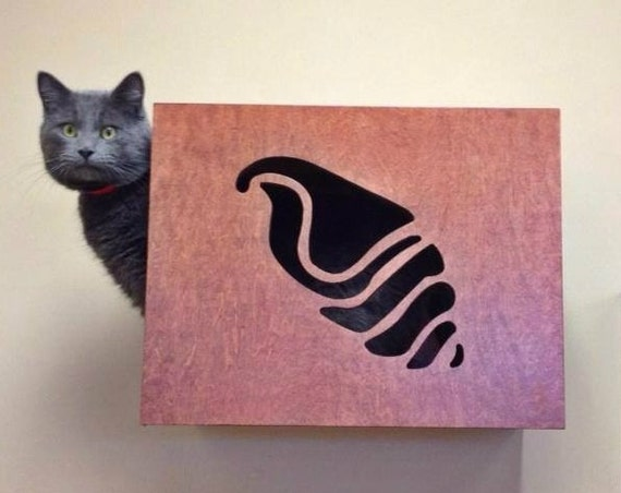 Decorative Wall Shelves For Cats : Decorative cat wall perch art by woodinyou on