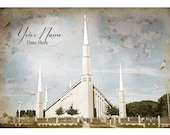 Boise LDS Temple Vintage Digital File With Name and Date July Special