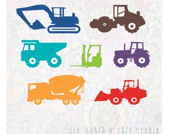 Construction Trucks Vol 1 Wall Vinyl Decals Art Graphics Stickers
