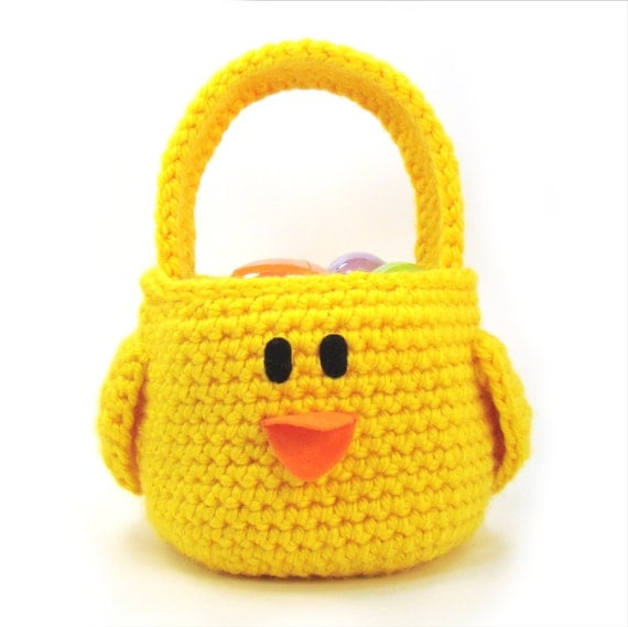 Chick Bird Easter Basket Crochet Pattern PDF INSTANT DOWNLOAD