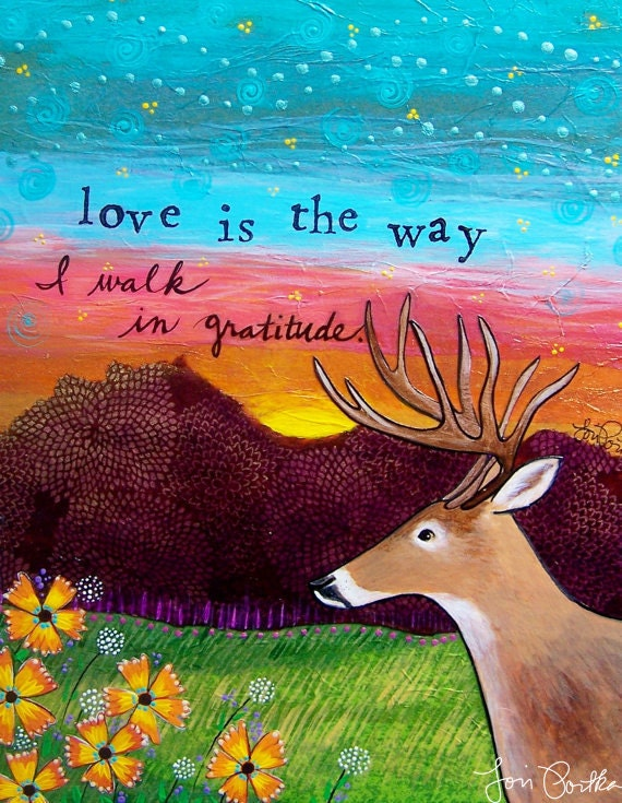 Greeting card : Love is the Way