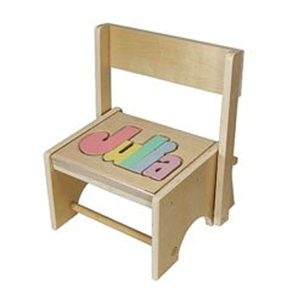Flip Down Name Stool They Can Sit Or Stand While Learning