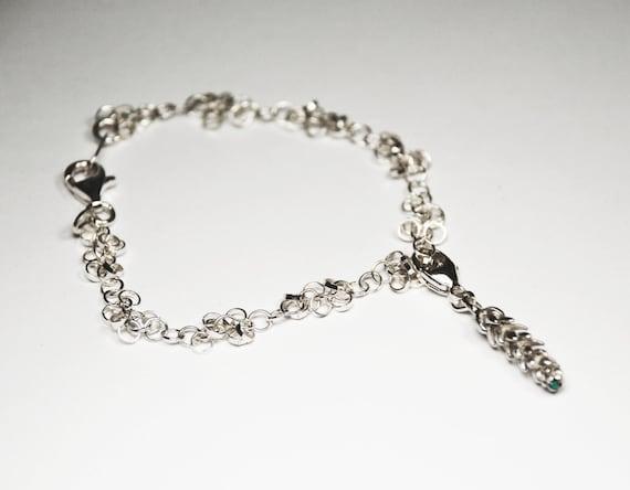 Silver California Charm Bracelet