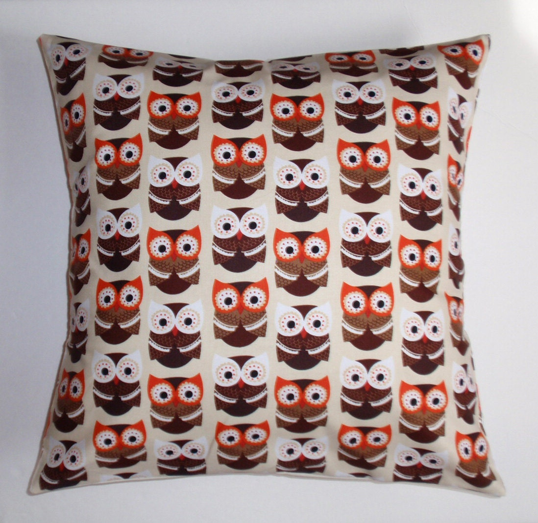Owl Throw Pillow Covers : Throw Pillow Cover Whimsical Owl Pillow Accent by PersnicketyHome