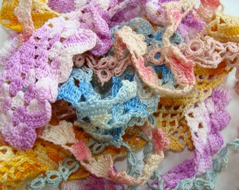 Antique Tatted Lace Unusual Patterns Lot 68