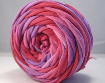 THICK T Shirt Yarn Hand Dyed - Merlot