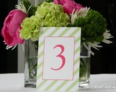 Wedding Table Numbers // You Design // Patterned Border