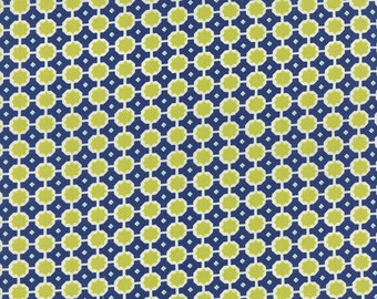 WINTER Sale - Quilt Backing Cut - 3 1/2 yards - Miss Kate - Sunshine in Navy - Sku 55095 16 - Bonnie and Camille - Moda Fabrics