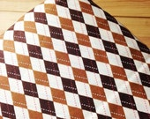 Fitted Crib Sheet, Chocolate Brown Argyle, baby bedding, READY TO SHIP, ((only one))