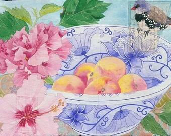 Firetail finch: Gabby Malpas watercolour C6 greeting card and envelope