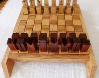 modern chess set   etsy
