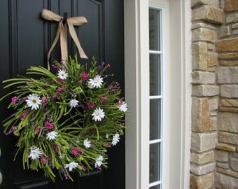 Summer Wreath - Front Door Wreath - White Daisies - Summer Gardens - Daisy Wreaths - Wreaths - Handmade Wreaths