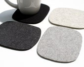Man Cave Bar Decor Coaster Set Mug Rug Beer Coasters for Men Father Gift For Him Men's Drink Coasters 5mm Wool Felt Cobblestones