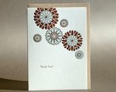 Botanical Thank You Letterpress Card