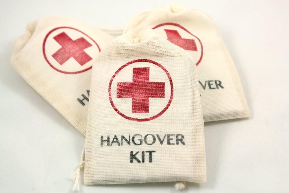 Wedding Gag Gift: DIY Hangover Kit Set Of 10 Funny Wedding Favors. Gag Gifts