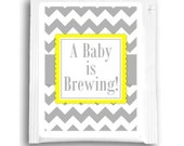 Baby is Brewing Baby Shower Tea Bag Favors, Custom Tea Bag Labels, Customized Tea Favors, Baby Shower Tea Favors, Baby Brewing Tea Favors