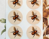 Stickers Bees Vintage Style Envelope Seals Party Favor Wedding Treat Bag Sticker SP047