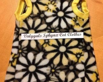 Graphite Daisy Body Sock - Sphynx Cat Clothes