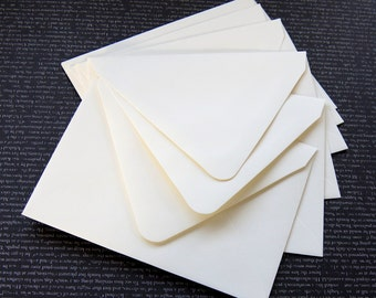 "10 Pointed Flap A2 Envelopes in Cream .  4 3/8"" x 5 3/4"""