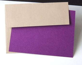 Kraft envelopes etsy 12 blank a2 note card set with kraft envelopes flat cards in any of 69 reheart Images